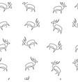 deer pattern seamless vector image