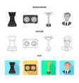 design of checkmate and thin icon vector image vector image