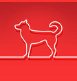 dog - chinese symbol new year line design vector image vector image