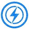 Electrical Hazard Rounded Icon Rubber Stamp vector image