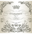 elegant invitation card in vintage style vector image vector image