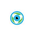 eye care leaf vector image vector image