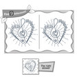 find 9 differences game sheet music vector image vector image