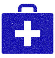 first aid bag icon grunge watermark vector image vector image