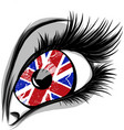 flag of the great britain in beautiful male vector image