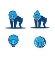 flat baboon vector image vector image