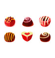 flat set of delicious candies of different vector image vector image