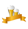 glass beers alcohol vector image vector image