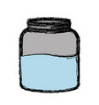 glass container icon vector image