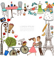 hand drawn paris template vector image vector image