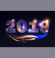 happy new 2019 year elegant shining number vector image vector image