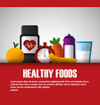 healthy foods dieting vector image vector image
