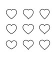 heart icon isolated on white background vector image vector image