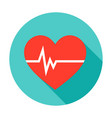 heart pulse circle icon vector image