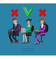 Hiring process concept with candidate selection vector image
