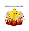 Holocaust Remembrance Day on vector image vector image