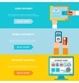 Internet banking and mobile payments vector image vector image