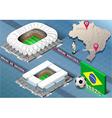 Isometric Stadium of Manaus and Curitiba Brazil vector image vector image