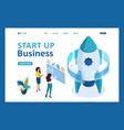 isometric start up a business project woman vector image vector image