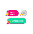 latest news speech bubble with megaphone vector image vector image