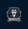 lion esport gaming mascot logo template vector image