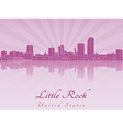 Little Rock skyline in purple radiant orchid vector image vector image