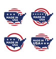 made in america label set 08 vector image vector image