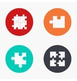 modern puzzle colorful icons set vector image vector image