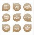modern sale badges collection 3 vector image vector image