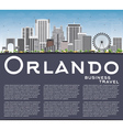 Orlando Skyline with Gray Buildings Blue Sky vector image vector image