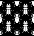 pattern seamless insect background beetle vector image
