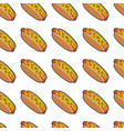 Pattern with delicious hotdogs