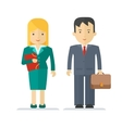 profession businessman and businesswoman vector image