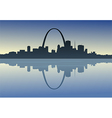 saint louis downtown riverfront vector image