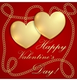 Saint Valentine Greeting Card vector image vector image