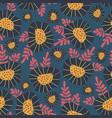 scandinavian style retro flower background vector image