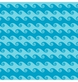 Seamless sea wave abstract pattern vector image