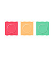 set color condom packed isolated contraceptive on vector image vector image