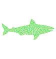 shark mosaic of dots vector image