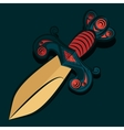 Sharp dagger with barbed wire vector image