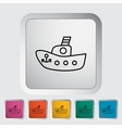 Ship toy vector image vector image