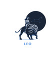 sign of the zodiac leo a woman is riding a lion vector image vector image
