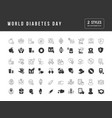 simple icons world diabetes day vector image