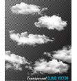 transparent set cloud vector image vector image