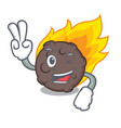 two finger meteorite character cartoon style vector image