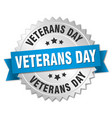 veterans day round isolated silver badge vector image vector image