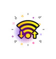 wifi signal sign wi-fi upload download symbol vector image vector image