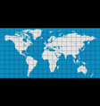 world map with coordinate grid vector image vector image