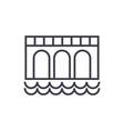 bridge sign line icon sign vector image