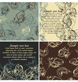 set of cards and seamless patterns vector image
